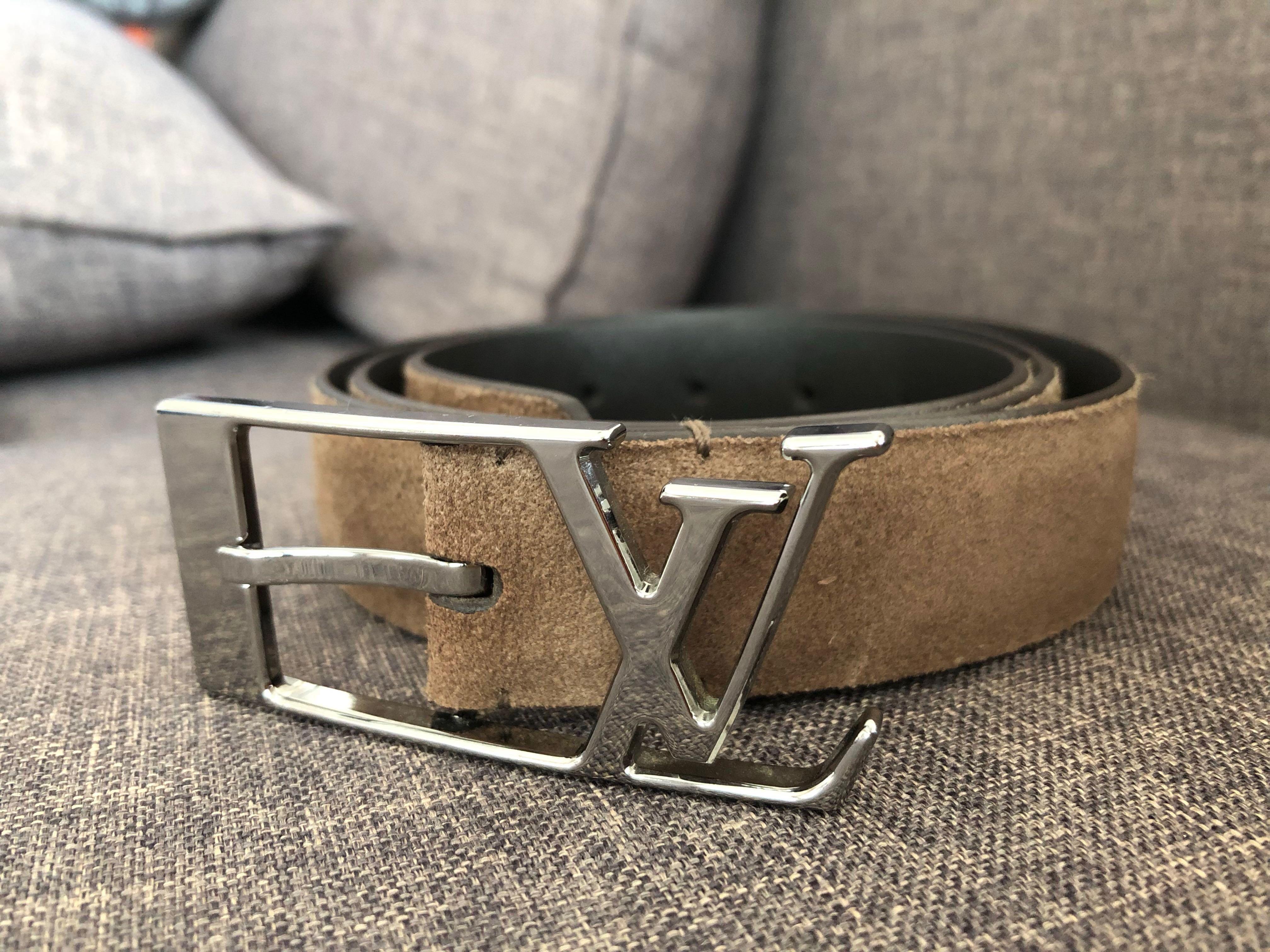 8df754c9d35a ... Louis Vuitton Belt Men Damier Graphite LV Black Grey 100 40 M9808  Authentic photo photo .