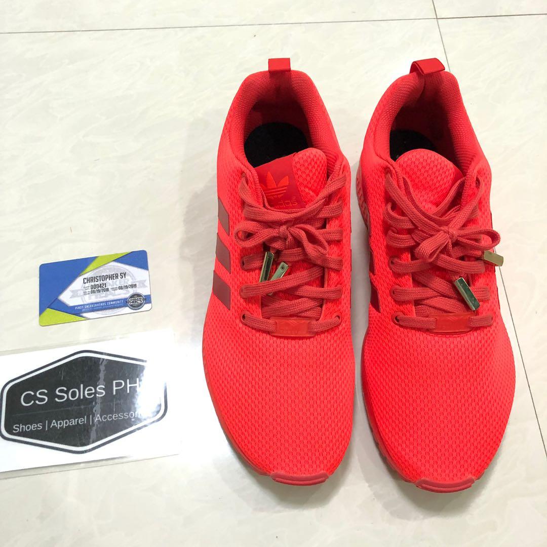 adidas ZX Flux Brick Red Sneaker Bar Detroit