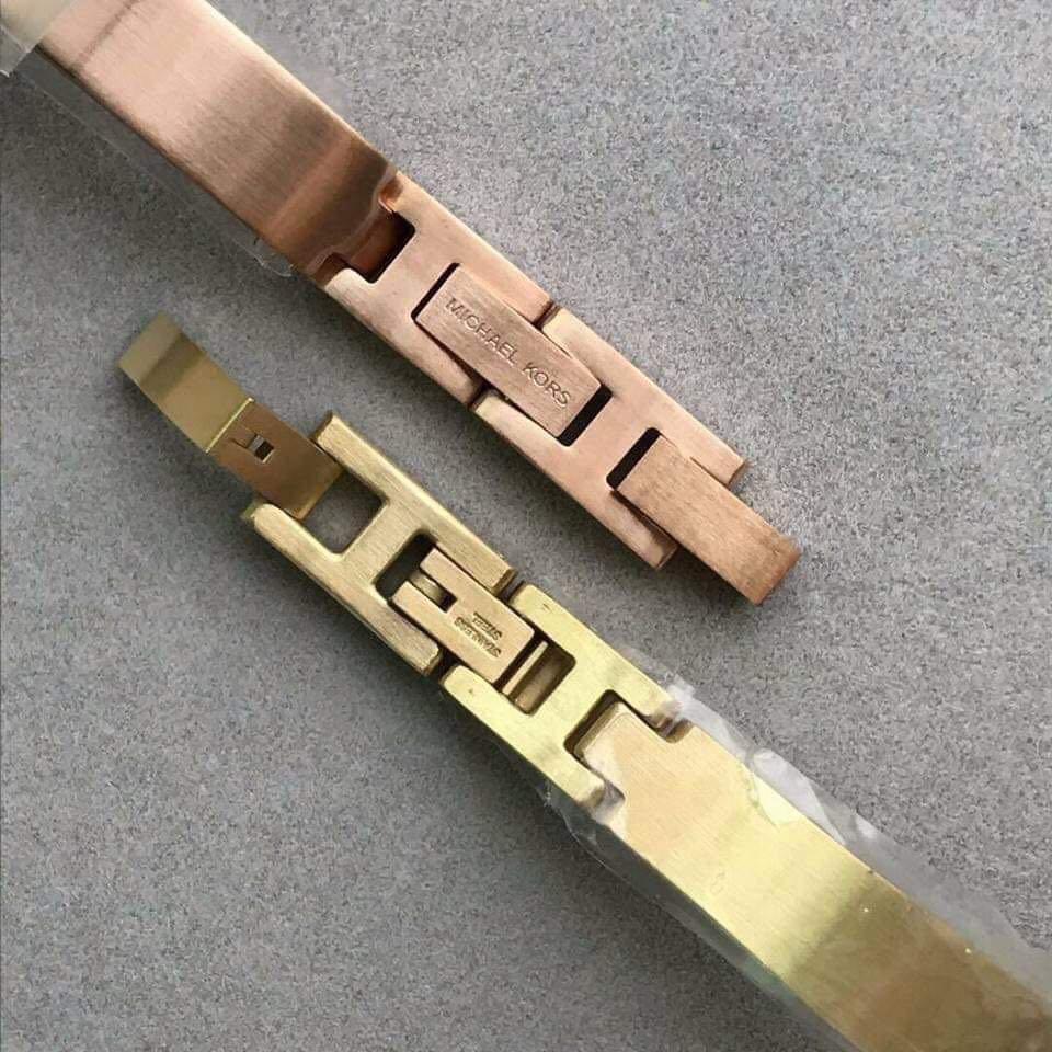cd9f5f2f8ba5 MK 3547 Jaryn Rose Gold Steel Bangle Watch and MK 3546 Jaryn Gold Tone Watch