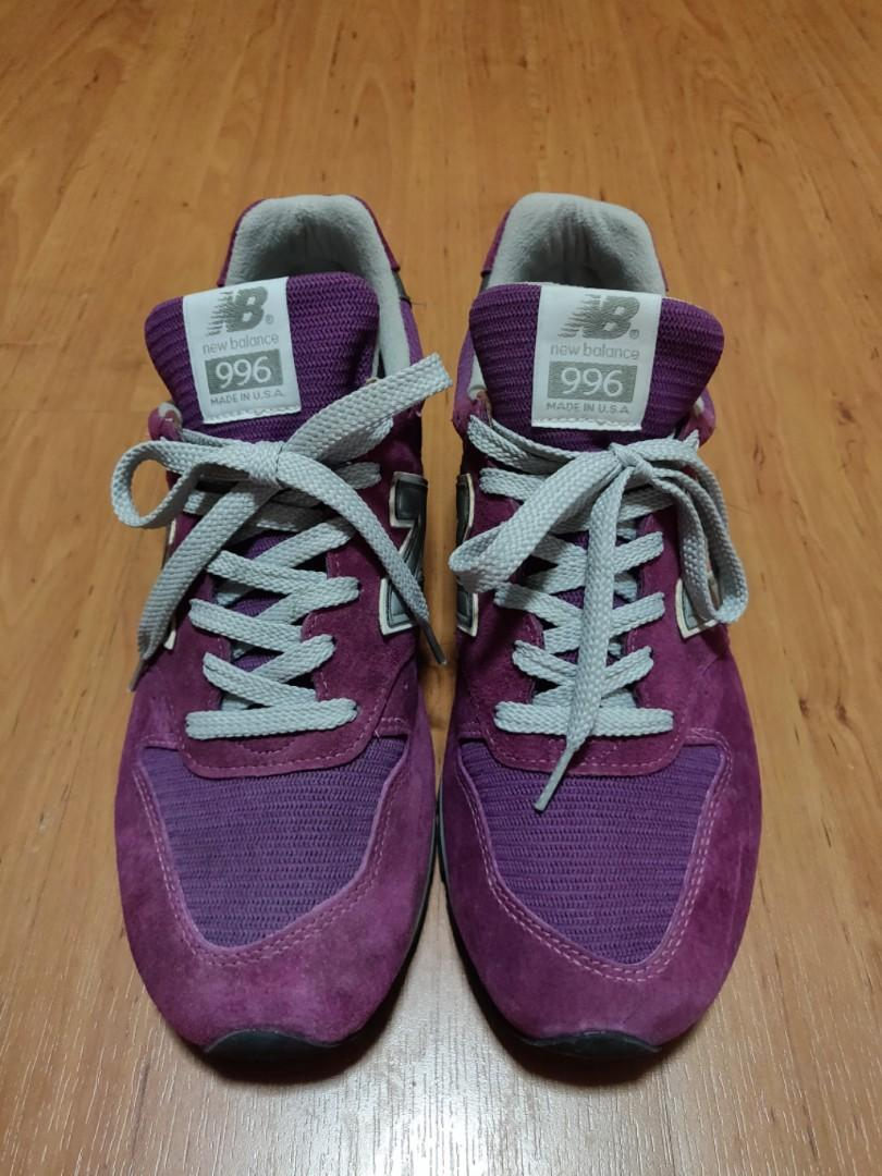 promo code 98252 29327 NEW BALANCE 996 Made in USA Purple Pink Violet Grey Gray NB ...