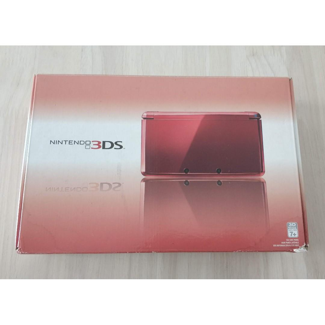 Nintendo 3DS Flame Red Launch Edition Complete CIB Handheld System