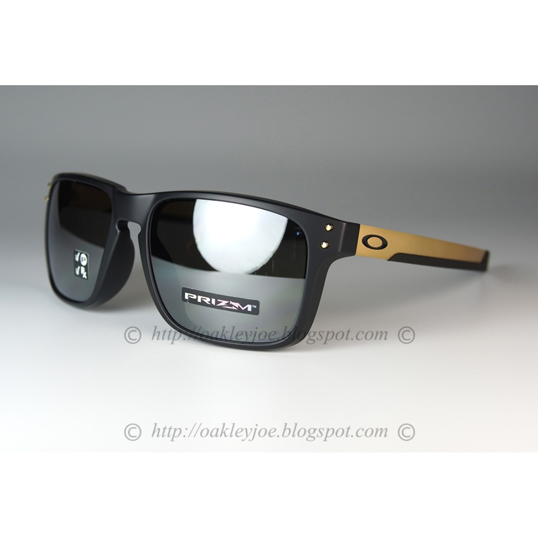 cf79406a00d Oakley Mix Holbrook Asian Fit matte black gold + prizm black ...