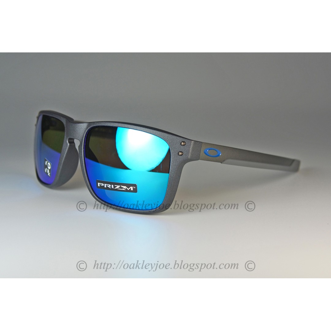 9e9d4eb70acdf Oakley Mix Holbrook Asian Fit steel + prizm sapphire polarized ...