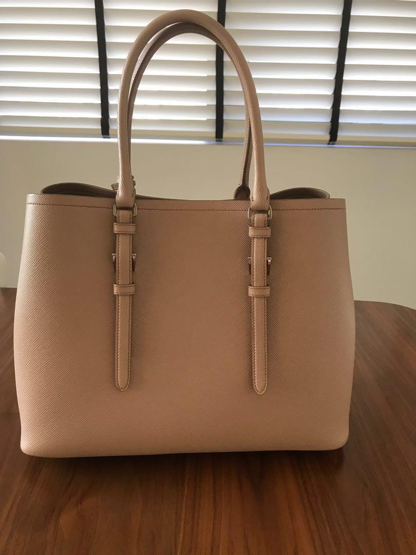 307dd5e1afaa Prada Saffiano Double Bag (dusty Pink Cammeo)