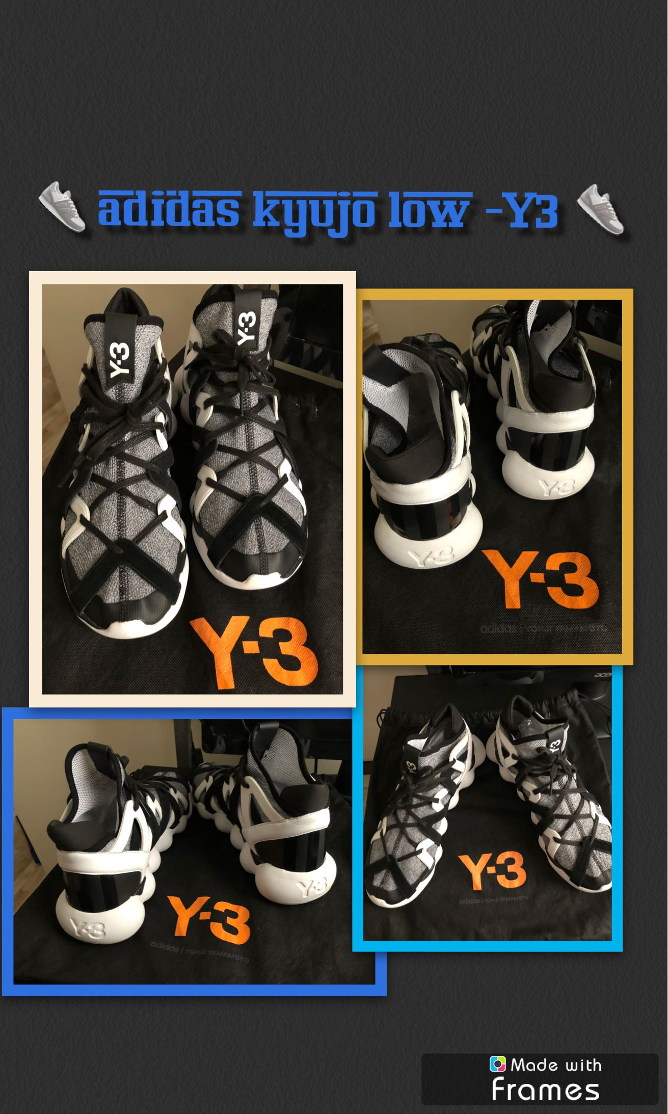 0573084c0a5be Preloved Men shoes- Y3 Kyujo Low Running