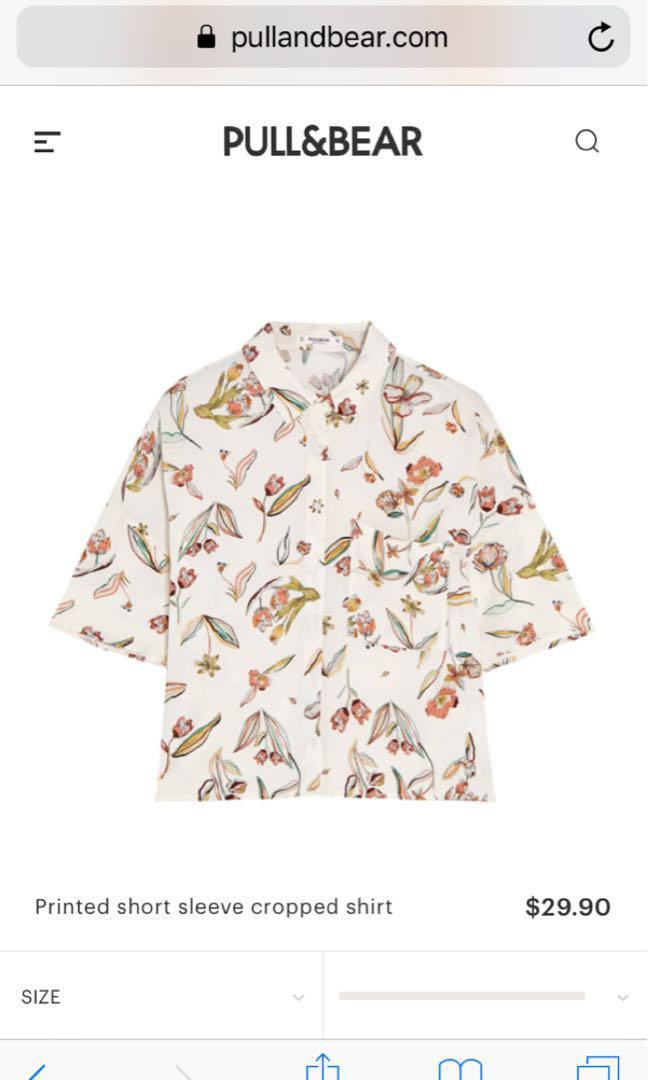 7f473854 PULL N BEAR SHORT SLEEVED OVERSIZED HAWAIIAN SHIRT, Women's Fashion,  Clothes, Tops on Carousell
