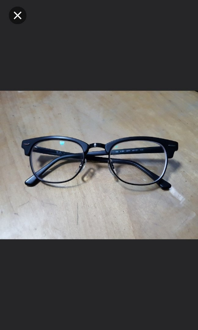 cc6296fef9 Rayban Clubmaster Spectacles  Authentic