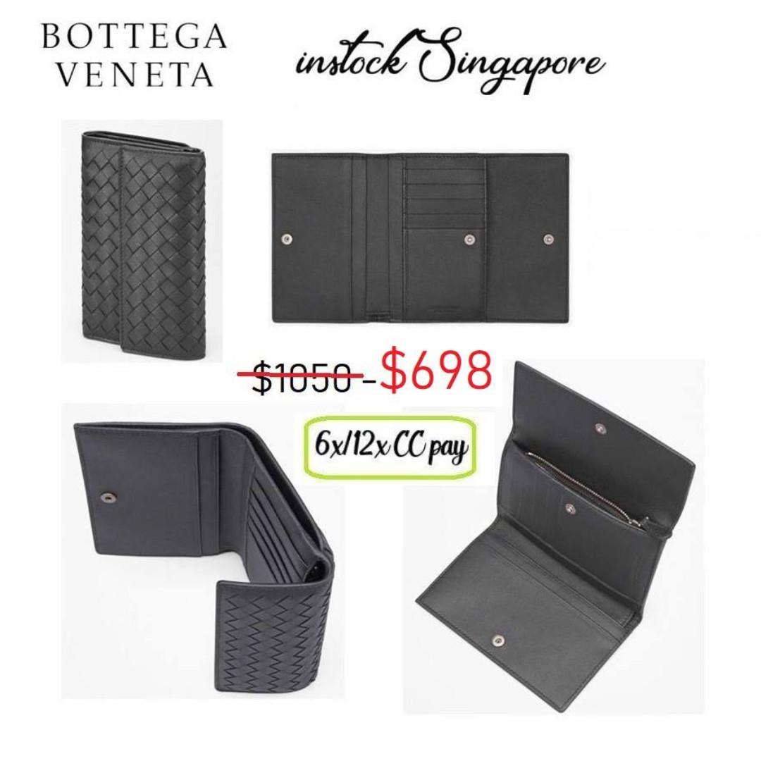 READY STOCK authentic new Bottega Vaneta wallet CONTINENTAL WALLET ... 54fbe4c844