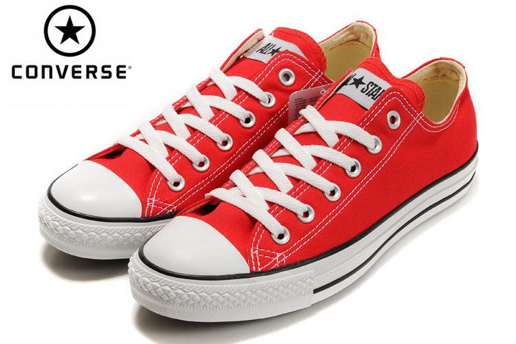 458e5805a0e Red Converse Shoes, Women's Fashion, Shoes, Sneakers on Carousell