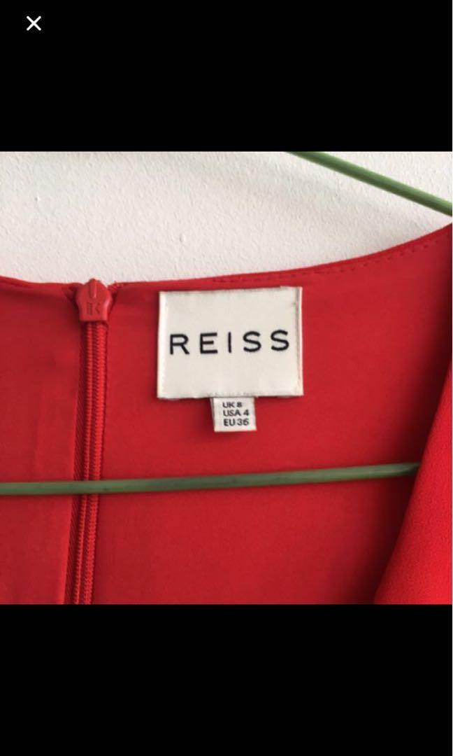 Reiss red dress UK8