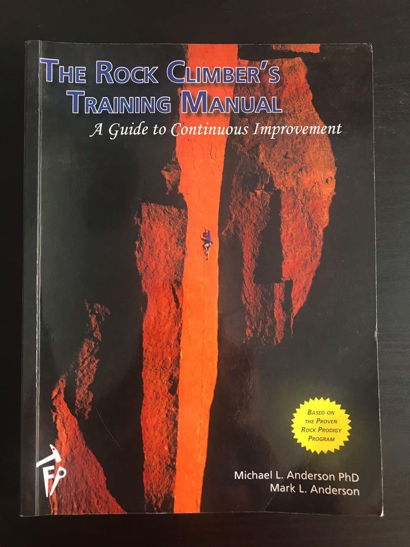 the rock climbers training manual
