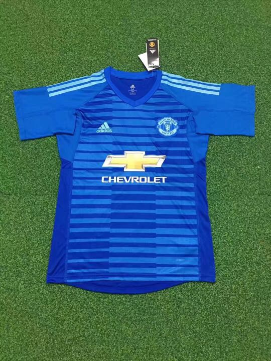 cbafa93d6 S to XXL) Manchester United Blue Goalkeeper Jersey 2018 2019