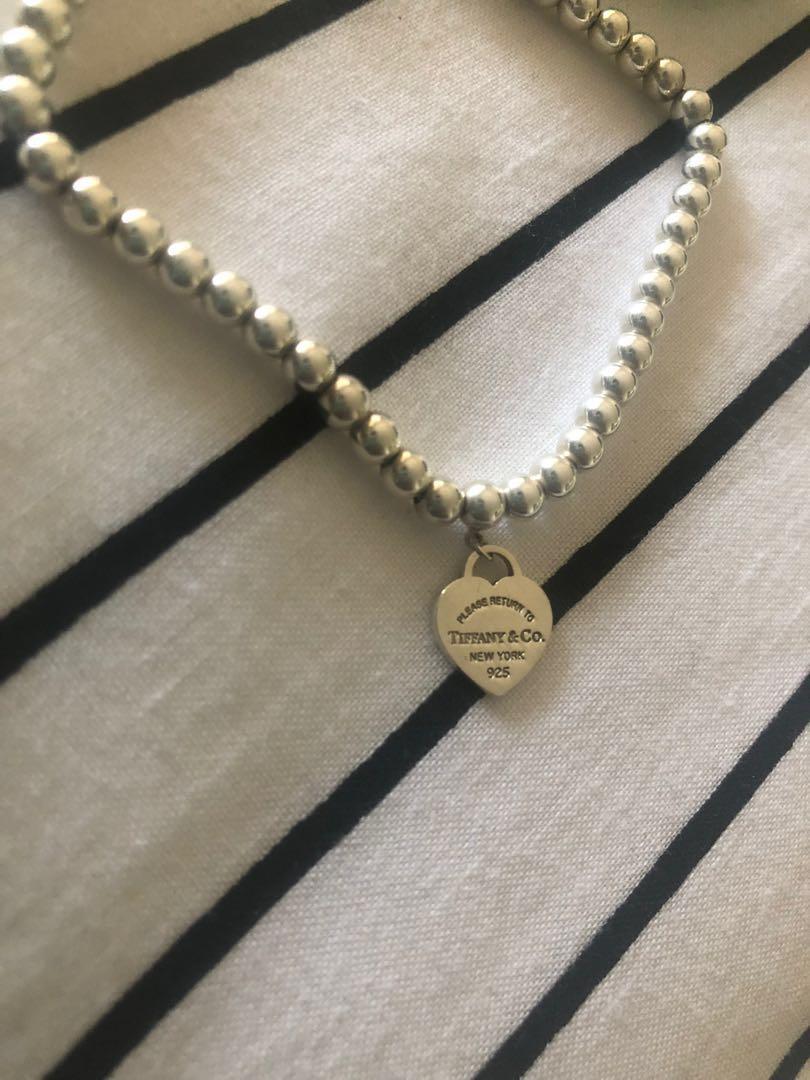Tiffany & Co Return to tiffany Enamel bead bracelet 6.5 inches