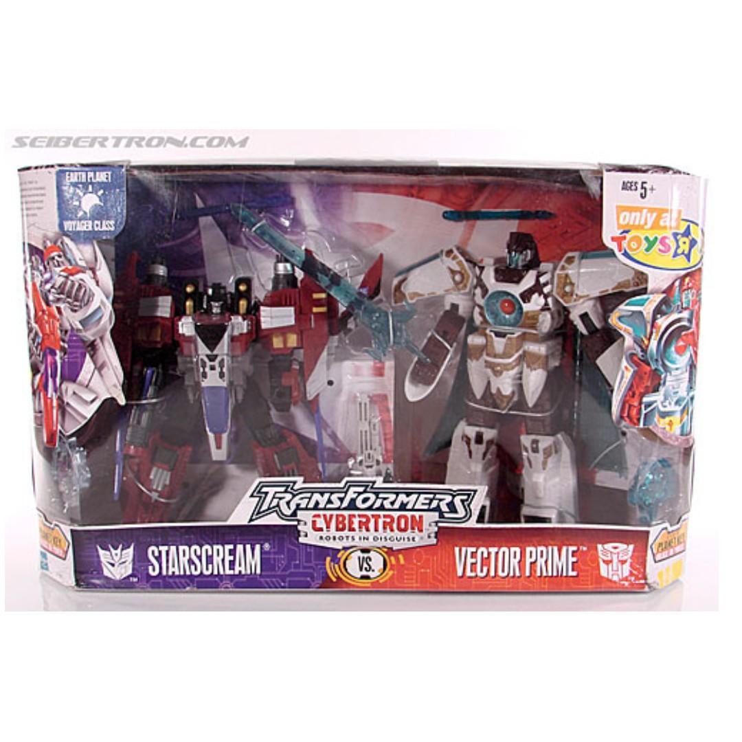 Transformers Cybertron Starscream vs Vector Prime Toys