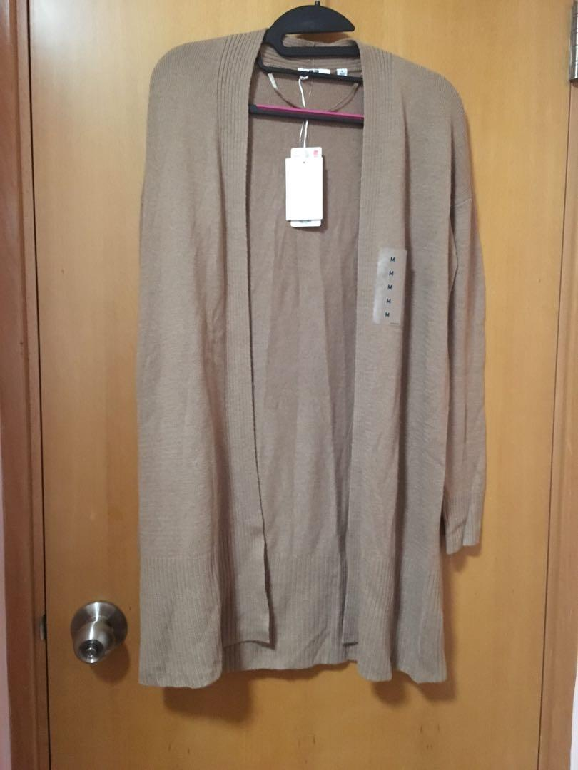 Uniqlo cashmere chestnut blended cardigan new with tag