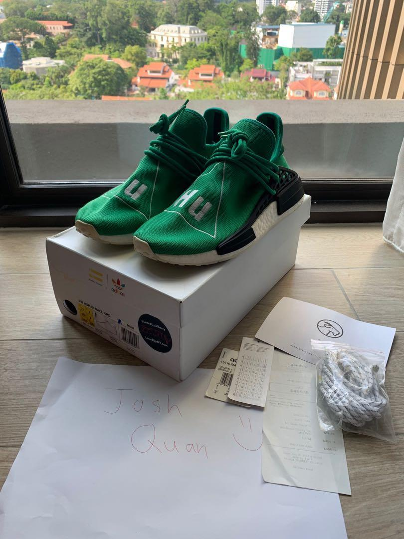 new style 54f8d ec7ea US7.5 NMD Human Race OG Green, Men's Fashion, Footwear ...