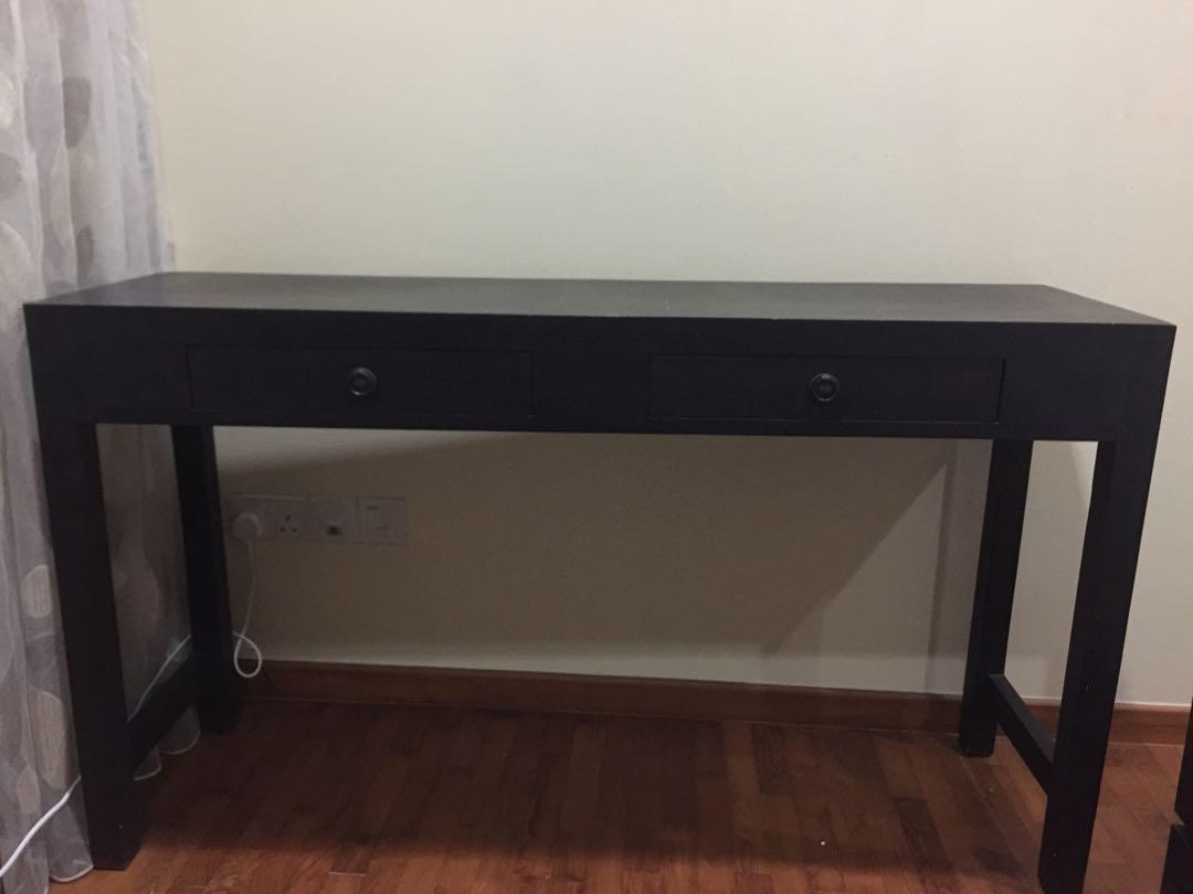 Writing Desk Console Table With 2