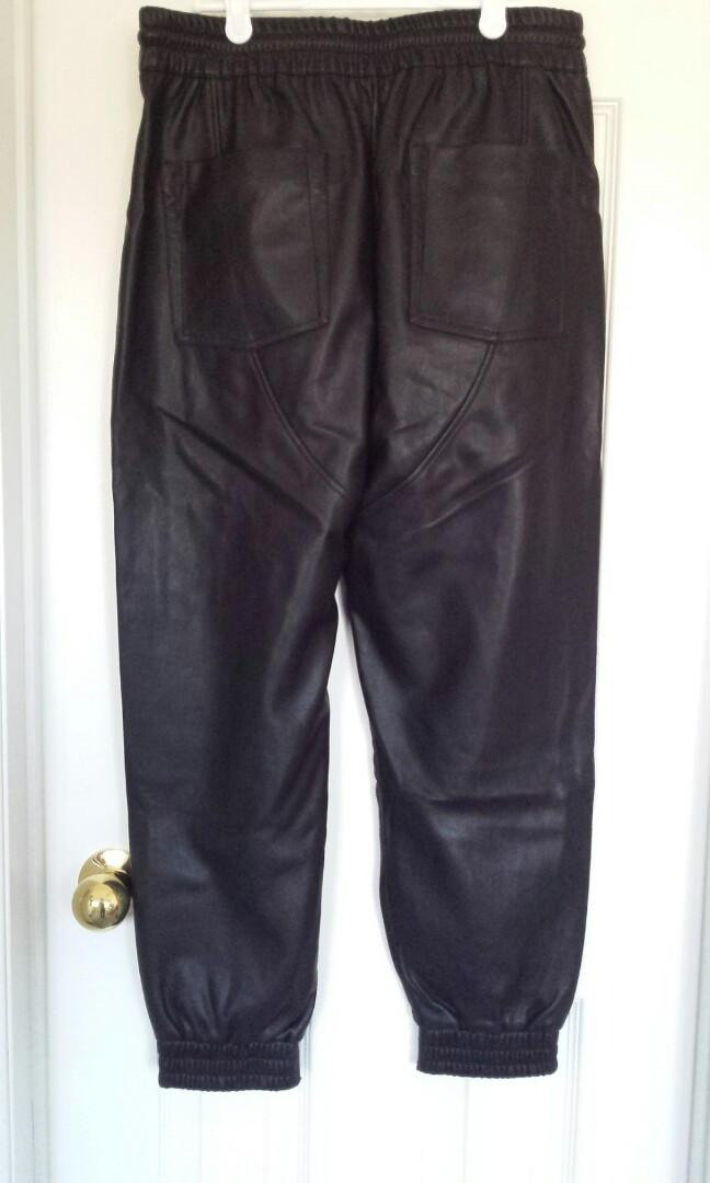 Zara Faux Leather Joggers