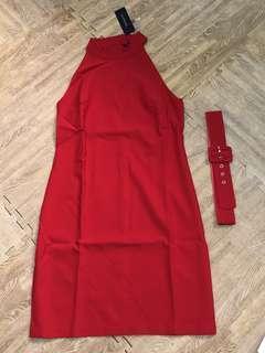 Trendyol Red Halter Dress
