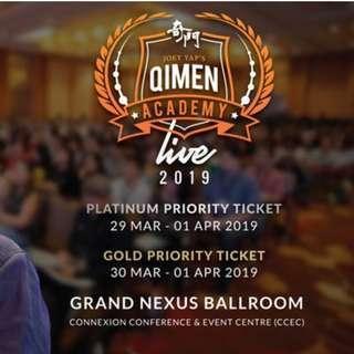 4 Day Platinum Priority Ticket - 29 Mar - 1 Apr 2019 in KL -Joey Yap's Qimen Academy Live 2019