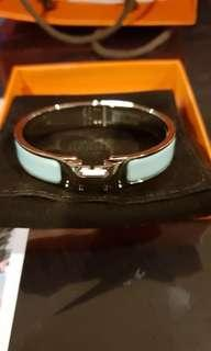 Hermes Clic Clac in light blue PHW (PM)