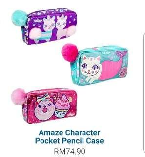 Smiggle Amaze Character Pocket Pencil Case- Pink Cupcake.