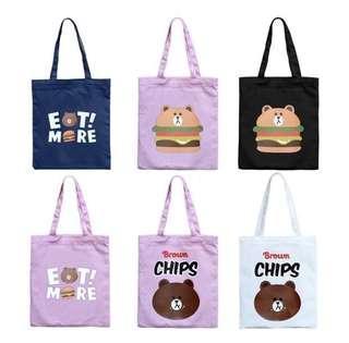 🚚 (PO) Line Friends Tote Bag