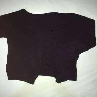 Cardigan hitam (kardigan)
