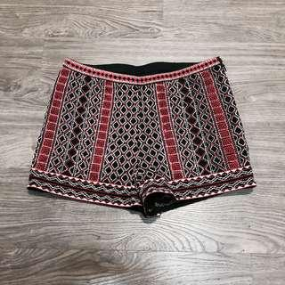 Red Tribal Shorts with Safety Shorts