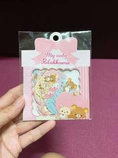 🚚 Rillakuma sticker flakes 60 pieces 12 designs