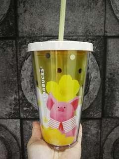 Starbucks Piggy Cny Straw Cup