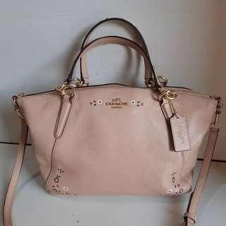 COACH Small Kelsey embroidery floral nude original