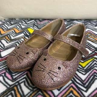 🚚 韓國BabyZZam/粉紅喵公主鞋/18cm