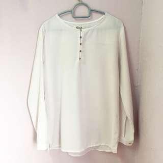 White Blouse | White Top | Kemeja Putih