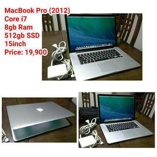 MacBook Pro (2012) Core i7 8gb Ram