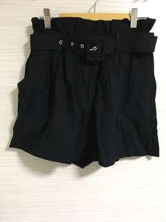 Black Ladies Shorts with Belt