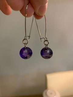 🚚 Beautiful Amethyst earrings