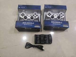 🚚 Brand New Wireless Controller for PS3 + Charging Dock