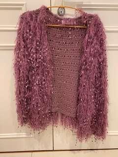 🚚 日本紫色毛毛外套