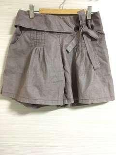 Brown Plaid Shorts