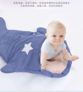 91 cm × 60 cm 嬰兒加厚純棉鯊魚睡袋🐳