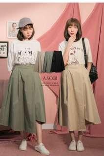 🚚 A-So-Bi腰下打折不規則傘擺後鬆緊側口袋長裙 #十一月女裝半價