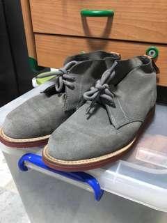 Dr Martens Grey Suede Boots
