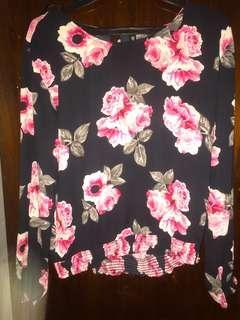 H&M flowery top