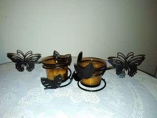 New Candle holders x 2