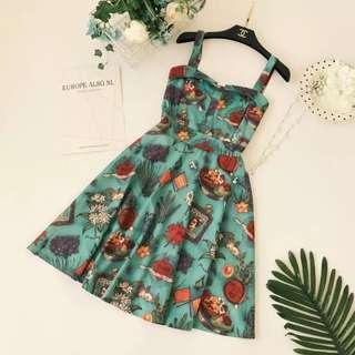 🚚 Po: vintage stuffs printed dress