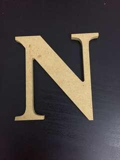 Typo Brand Wooden Letter for letter - I, N, F, C, O, U, T, R, E