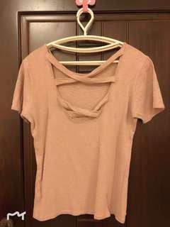 🚚 韓國帶回💕粉藕色美背上衣