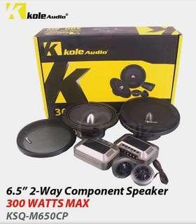 "Original Kole Audio 6.5""2-way component Speaker -300W"