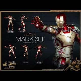 全新 1/6 Hot Toys HotToys Iron Man IronMan 3 Mark XLII 42 半可動 PPS001 鐵甲奇俠